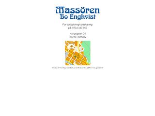 Earlier screenshot of massoren.se