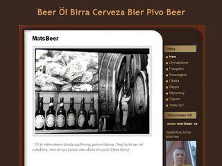 Earlier screenshot of matsbeer.se