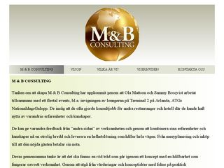 Earlier screenshot of mbconsulting.se