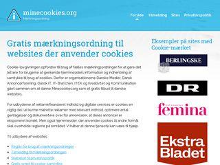 Earlier screenshot of minecookies.org