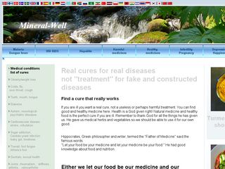 Earlier screenshot of mineral-well.com