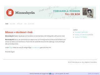 Earlier screenshot of minnesbyran.se