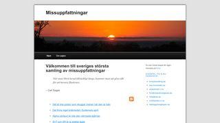 Earlier screenshot of missuppfattningar.se
