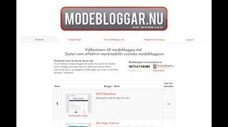 Earlier screenshot of modebloggar.me