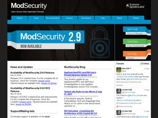 Preview of modsecurity.org