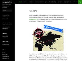 Earlier screenshot of mongolrally.se