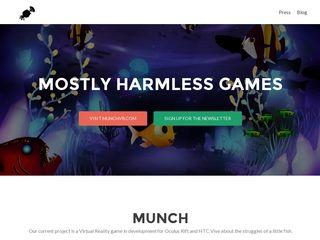 Earlier screenshot of mostlyharmlessgames.se