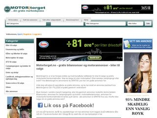 Earlier screenshot of motortorget.no