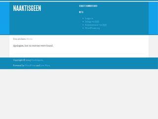Earlier screenshot of naaktisgeen.nu