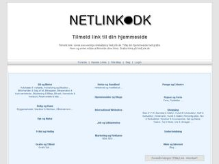Earlier screenshot of netlink.dk