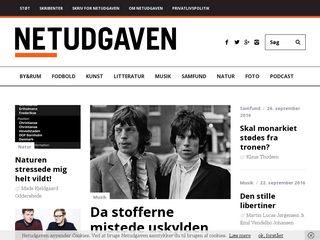 Earlier screenshot of netudgaven.dk