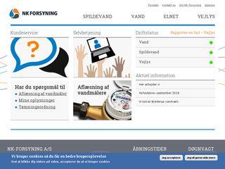 Earlier screenshot of nk-forsyning.dk
