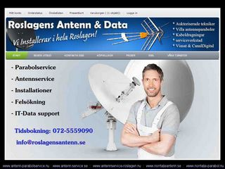 Earlier screenshot of norrtalje-parabol.nu