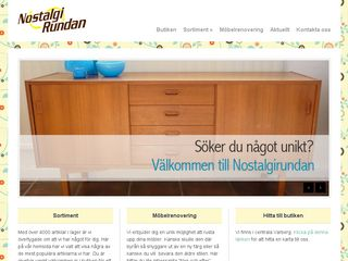 Earlier screenshot of nostalgirundan.se