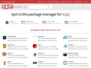 npmjs com | Domainstats com