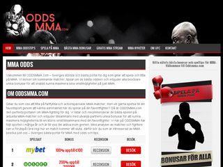 Earlier screenshot of oddsmma.com