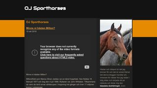 Earlier screenshot of ojsporthorses.se