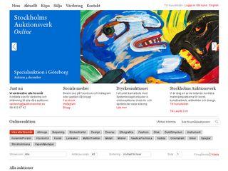 Earlier screenshot of online.auktionsverket.se