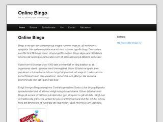 Earlier screenshot of onlinebingo.n.nu