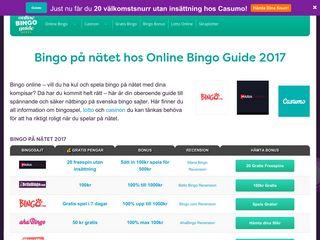 Earlier screenshot of onlinebingoguide.se