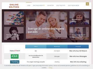 Earlier screenshot of onlinedejting.se