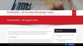 onlinekrediter.se