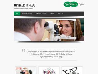 Earlier screenshot of optikertyreso.se