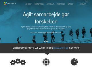 Earlier screenshot of optimate.dk