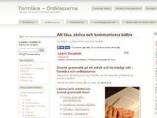 ordklasser.se