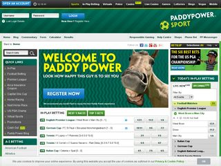 Preview of paddypower.com