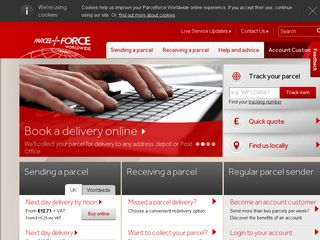 Preview of parcelforce.com