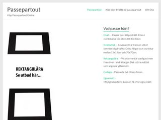 Earlier screenshot of passepartout.se