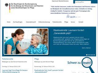 Earlier screenshot of patientenbeauftragter.de