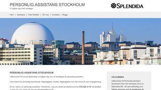 Earlier screenshot of personligassistansstockholm.nu