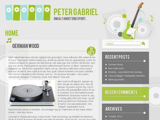 Earlier screenshot of petergabriel.dk