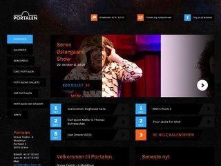 Earlier screenshot of portalen.dk