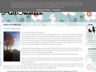 Earlier screenshot of prettomorsan.se