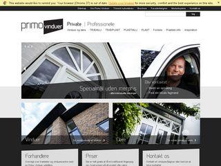 Earlier screenshot of primovinduer.dk