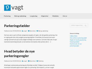 Earlier screenshot of pvagt.dk