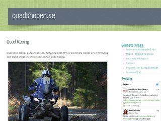 Earlier screenshot of quadshopen.se