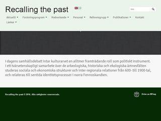 recallingthepast.se
