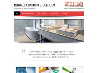 Earlier screenshot of renoverabadrumstockholm.nu