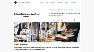 Earlier screenshot of restauranger.info
