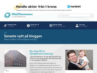 Earlier screenshot of 100krmotmiljonen.se