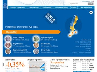 Earlier screenshot of riksbank.se