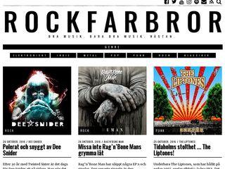 Earlier screenshot of rockfarbror.se