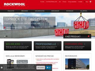 Earlier screenshot of rockwool.dk