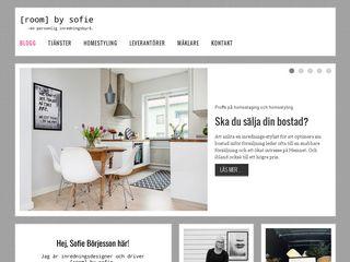Earlier screenshot of roombysofie.se