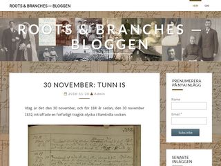 Earlier screenshot of roots-branches-blogg.se