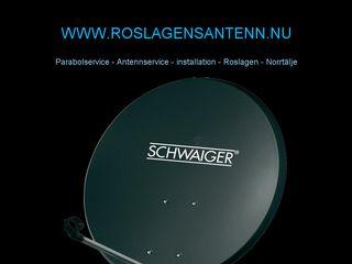 Earlier screenshot of roslagensantenn.nu